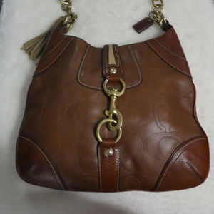 Vintage Coach Hobo with Strap Closure